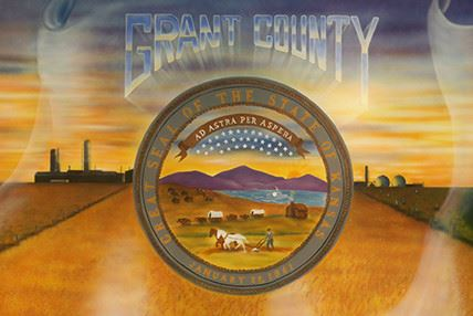 Grant County with the Kansas seal below it